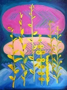 """Its Spreading (GMO Wheat)"" Paintings - Debra Bianculli www.debrastudio.com"