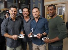 Ryan Paevey (Nathan West), Tyler Christopher (Nick), William DeVry (Julian) and Sean Blakemore (Sean) celebrate 13000 episodes GH Hospital Series, Hospital Tv Shows, General Hospital, Hospital Photos, Soap Opera Stars, Soap Stars, Unleashing Mr Darcy, Nathan West, Ryan Paevey