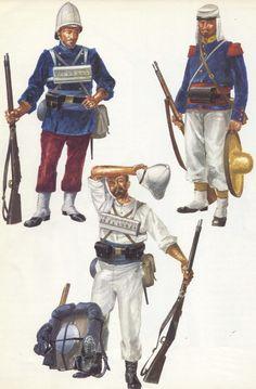 Légionnaire, Tonkin, 1886, Légionnaire, Madagascar, 1900,Légionnaire of Grenadier Company, Mexico, 1863 ... http://georgy-konstantinovich-zhukov.tumblr.com/post/75803976236/french-foreign-legion-late-19th