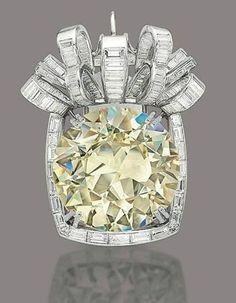 Yellow diamond pendant by Rene Boivin