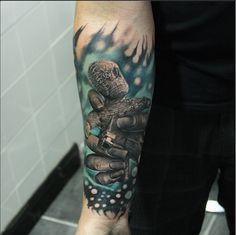 Do you do voodoo like he do? Tattoo by Piotr Cwiek