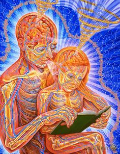 Alex Grey translates the unseen (to most of us) in dynamic art. We are so much more than we know ourselves to be!