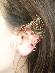 Elven ears (a pair). Earcuffs Elf ears cosplay fantasy decoration for ears elven ear ear cuff elvish earring elf ear der Hobbit Ear Jewelry, Cute Jewelry, Jewelery, Jewelry Making, Boho Jewelry, Ear Cuffs, Elf Ear Cuff, Elf Cosplay, Elf Ears