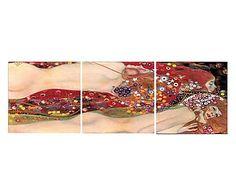 Composizione di 3 stampe su pannello serpente d'acqua, 150x50 cm