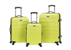 Rockland Melbourne 3 Piece Abs Luggage Set Lime One Size Rockland Melbourne Piece Luggage Lime has a rating of above 4 stars and remains among the top items sold online in Luggage  category in USA. Click below to see its Availability and Price in YOUR country.