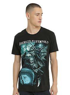 Avenged Sevenfold Reaper Cauldron T-Shirt, BLACK