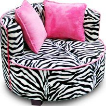 Zebra Lounge Chair ~ walk-in closet for putting on shoes!