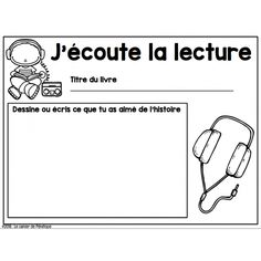 Affiche et fiches: ateliers de litttératie                                                                                                                                                                                 Plus Teaching French Immersion, Grade 1 Reading, French Teaching Resources, Teaching Ideas, French Education, Core French, French Classroom, French Teacher, French Lessons