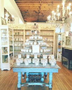 Apothecary Made in Hamilton candle table at Pure Home Couture