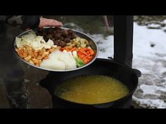 (1666) ХУИЦАА. МОНГОЛЬСКИЙ СУП В КАЗАНЕ НА КОСТРЕ - YouTube Picnic, Grains, Rice, Youtube, Food, Essen, Picnics, Picnic Foods, Youtubers