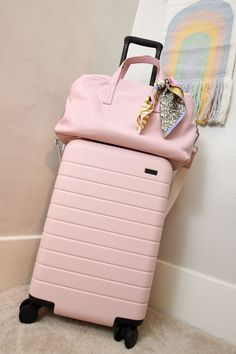 Cute Luggage, Luggage Sets, Travel Luggage, Travel Bags, Pink Luggage, Travel Trip, Travel Pouches, Vacation Packing, Away Carry On