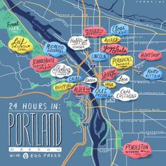 What to do if you only have 24 hours in Portland. Love the knitting/crafting element included!