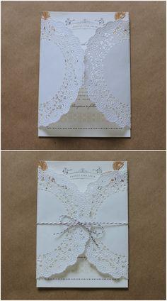 Linen, Lace, & Love: Wedding Paper Divas DIY Additions: Part 2