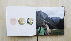**great idea for a monthly pregnancy/baby book! w/ gold foil overlay!! -- caylee grey | ten things photobook