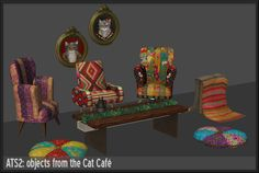 Around the Sims 2 | Downloads | Objects cat cafe