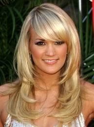 Carrie Underwood #Layers #side swooping bangs love this cut and style.