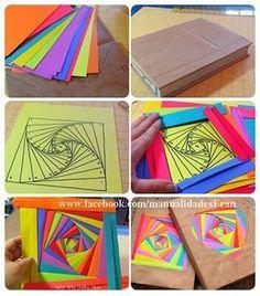 Image about girl in basteln by Hanni on We Heart It Iris Paper Folding, Iris Folding Pattern, Middle School Art Projects, Classroom Art Projects, Diy Crafts For Kids, Art For Kids, Arts And Crafts, Art N Craft, Diy Art