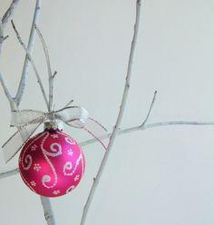 hot pink ornament
