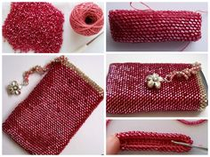 Beaded construction of phone case