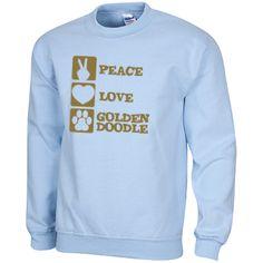 Peace Love Goldendoodle - Gildan Sweatshirt