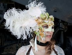 Over the top?  Yes, please.  Antoinette Grand Masquerade Ball Mask by mask artist Amanda Carroll (ArtisanMaskers)