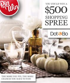 Pin to Win a $500 shopping spree! More details at www.dotandbo.com/pin-to-win