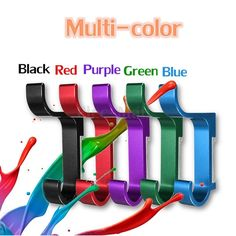 Quality Colorful Space Alumimum DIY Wall-mounted Hat Clothes Towel Hooks Hangers