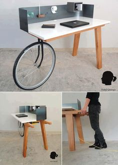 PorTABLE. You only need spare bike fork and wheel...