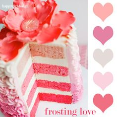 #color frosting love