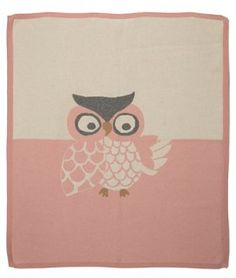 Cashmere/Cotton Owl Blanket, Pink
