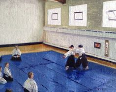 A little Aikido painting, 8x10 by Todd Lachance