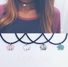 Ivory Ella necklaces that I love!! #SavetheElephants ❤️❤️❤️❤️ I absolutely need this in white!!!!!