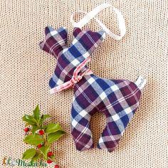 Karácsonyi rénszarvas lakásdísz - környezetbarát modern karácsonyfadísz textilből kockás flanellből adventre, télre (andindadesign) - Meska.hu Deer Decor, Advent, Modern, Trendy Tree