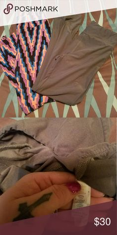 2 pair of gently used lularoe leggings Gently used. The dark grey pair was only worn once. Extremely soft, comfortable leggings. They're normally $25 per pair when bought from a consultant. I'm selling BOTH pair for $30. LuLaRoe Pants Leggings