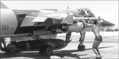 Tiffy checks if Matra Missile is secure South African Air Force, Dassault Aviation, Korean War, Cold War, Military Aircraft, Airplanes, Soldiers, Fighter Jets, History