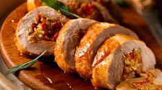 Carré de cerdo con platanos - Comida Brasileña