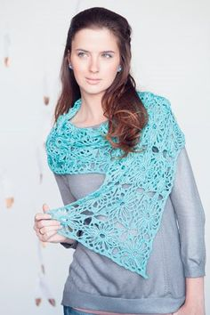 This lace crochet wrap is beautiful.