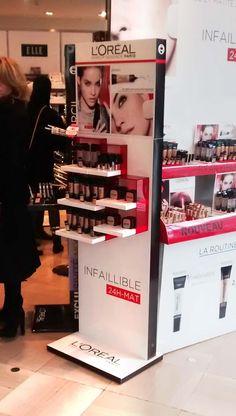L'Oréal-Display-Mars 2015-Paris Cosmetics Display Stand, Cosmetic Display, Pos Design, Stand Design, Promotional Stands, Jewellery Showroom, Pos Display, Displays, Point Of Purchase