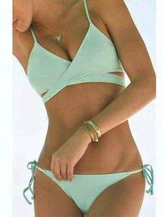 Tiffany Blue Swimwear Bikini Set