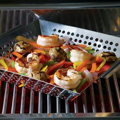 More Grilled Shrimp - can't wait to use my grilling basket this summer!