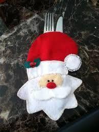 Resultado de imagem para porta cubiertos navideños moldes