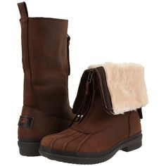 UGG Arquette (Stout) Women's Boots ($200) ❤ liked on Polyvore featuring shoes, boots, mid-calf boots, mid calf low heel boots, shearling-lined boots, water proof boots, water proof shoes and ugg