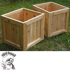 @Overstock.com - Phat Tommy Red Cedar Planter Box (Set of 2) - Give your herb bushes, plants, and flowers a boost of style with this cedar redwood planter box. Ideal for any garden, flower bed, or yard, these durable cedar boxes from Phat Tommy are easy to drain, and they are built to withstand inclement weather.  http://www.overstock.com/Home-Garden/Phat-Tommy-Red-Cedar-Planter-Box-Set-of-2/4760235/product.html?CID=214117 $155.89