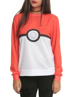 Pokemon Poke Ball Girls Pullover Top | Hot Topic