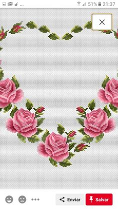Rose Bouquet, Table Linens, Cross Stitch, Embroidery, Towel, Cross Stitch Embroidery, Cross Stitch Heart, Bias Tape, Roses