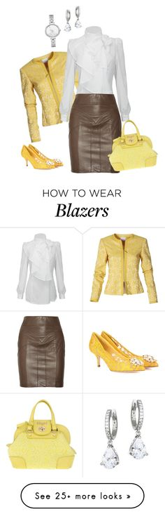 """""""Untitled #337"""" by starlightdoh on Polyvore featuring Mackage, Dolce&Gabbana, Blugirl and Kate Spade"""