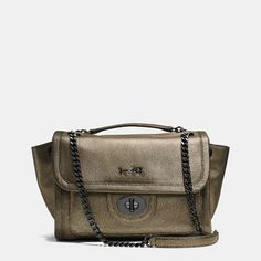 COACH RANGER FLAP CROSSBODY IN METALLIC LEATHER