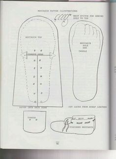 leather moccasin patterns | Moccasin pattern