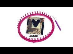 Tricotin - Technique du jacquard : croisement des fils I Loom Knitting - YouTube