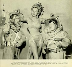 Abbott and Costello go to Mars. Le Fantastique Au Cinéma by Michel Laclos and not in copyright. Sci Fi Movies, Old Movies, Comedy Movies, Action Movies, Science Fiction, Space Girl, Space Age, Comedy Duos, Abbott And Costello